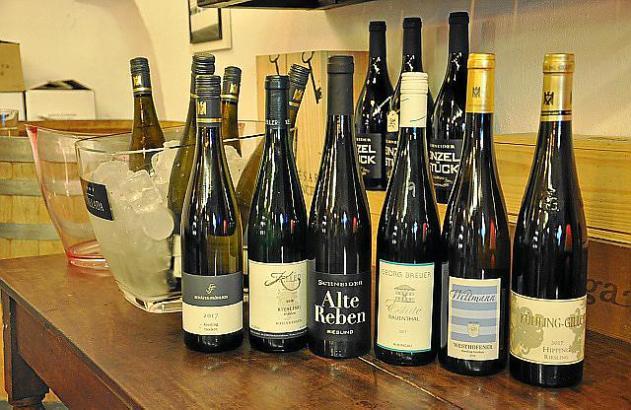Weißweine aus deutschen Landen.