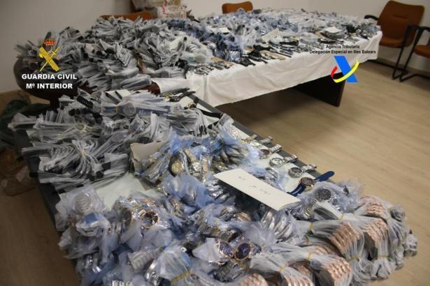 Die von der Polizei sichergestellte Ware.
