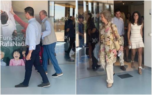 Altkönig Juan Carlos und Sofía Ende Juli beim Besuch der Tennisakademie von Rafa Nadal auf Mallorca.