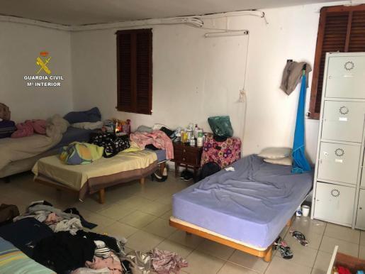 Das ist einer der Räume, in denen die Frauen aus Lateinamerika von der Bande zur Prostitution gezwungen wurden.