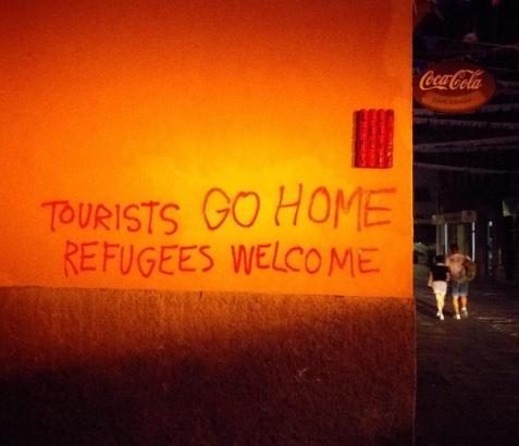 Neue touristenfeindliche Schmiererei in Palma.