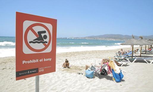 In Ciutat Jardí und Can Pere Antoni darf am Montag nicht gebadet werden.