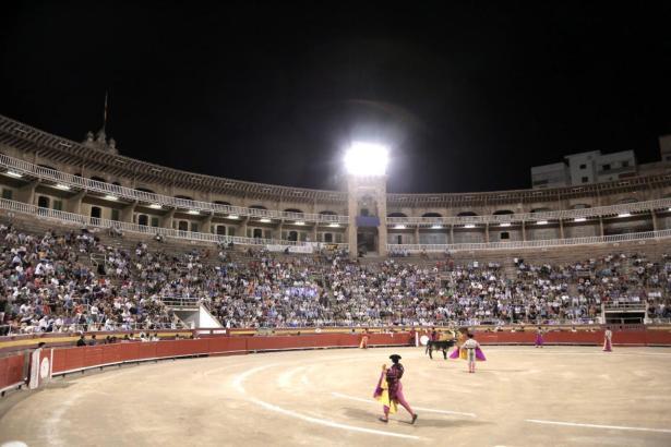 Archaisch und brutal: Stierkampfszene in Spanien.
