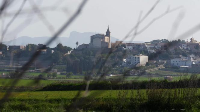 Die Skyline von Santa Margalida macht Eindruck.