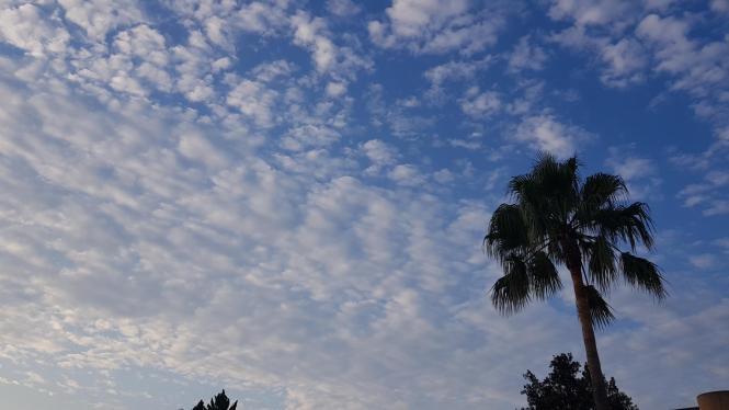 Richtig wolkenfrei wird es dieser Tage kaum.