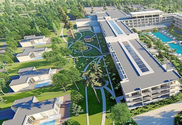 So soll das Hotel aussehen, das der Meliá-Konzern 2020 in Durras eröffnen will.