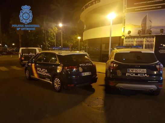 Die Polizei musste am Sonntagmorgen zu einem Einsatz am Paseo Marítmo ausrücken.