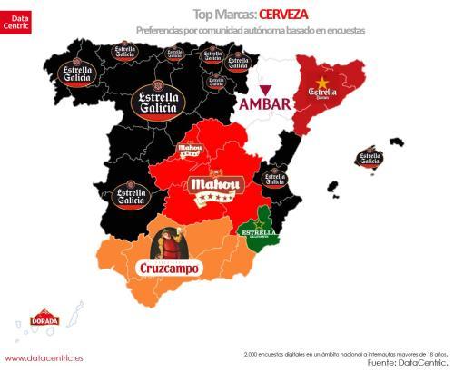Der Insulaner ist vernarrt in Estrella-Galicia-Bier.