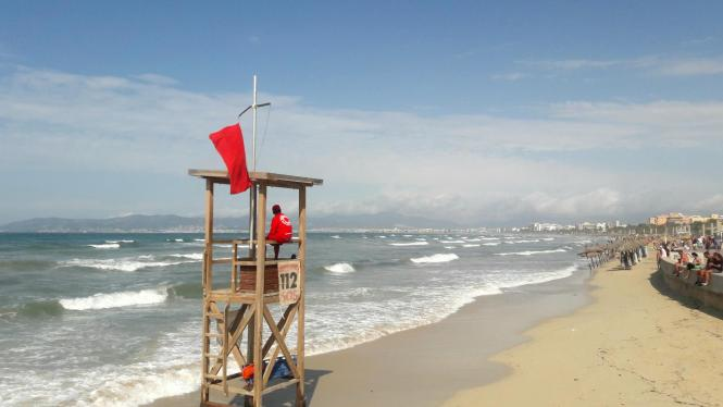 So erlebt man die Playa de Palma selten.