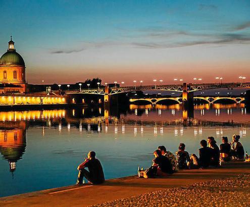 In Toulouse kann man Seele-Baumeln-Lassen mits französischer Lebensart verbinden.