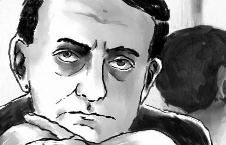 André Malraux, gemalt von Regisseurin Amélie Harrault.