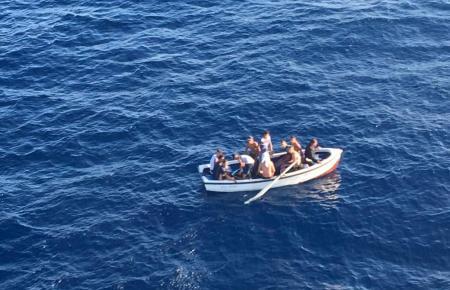 Migrantenschiff vor Mallorca.