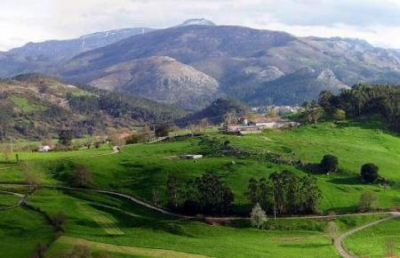 Landschaft in Kantabrien.