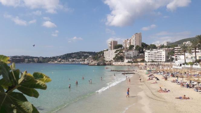 Der famose Strand von Cala Major.