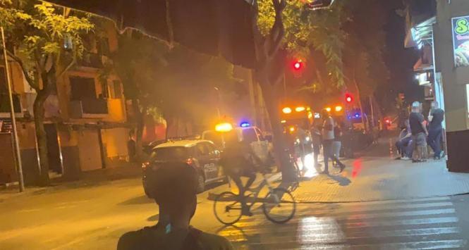 Polizisten in Palmas Viertel Son Gotleu.