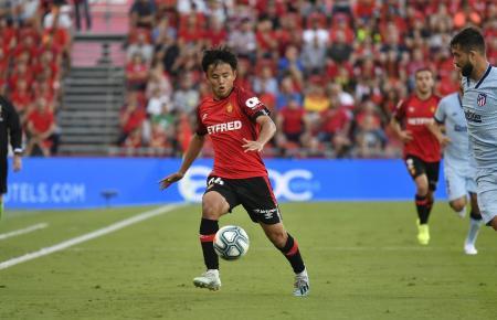 Real Mallorcas Japaner Takefusa Kubo stand gegen Atlético Madrid in der Startelf.