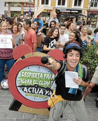 Bereits am vergangenen Freitag war Palmas Rathausplatz Schauplatz einer Kundgebung für den Kampf gegen den Klimawandel.