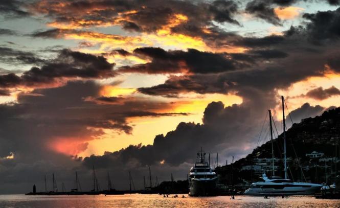So stimmungsvoll kann es in Port d'Andratx sein.