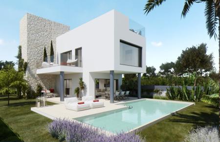 Die Villa wird über einen Pool verfügen.