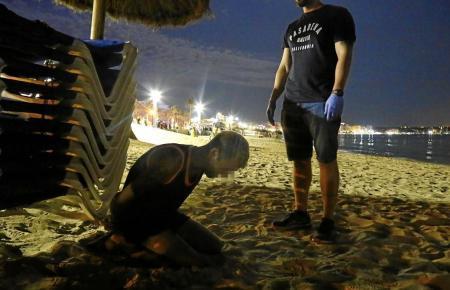 Festnahme an der Playa de Palma.