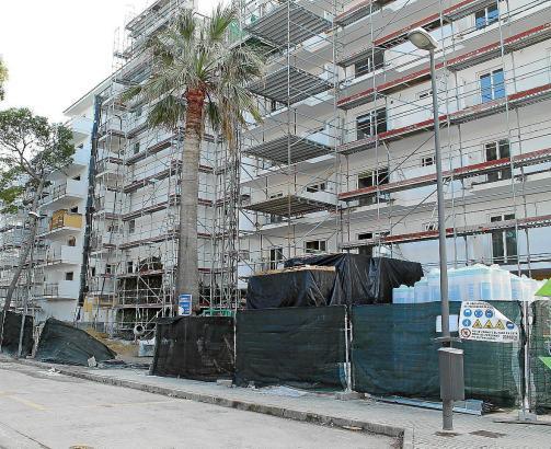 Im Umbau befindliches Hotel auf Mallorca.