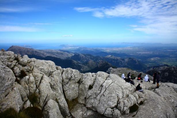 Blick auf die Serra de Tramuntana.