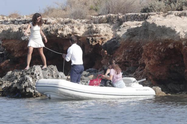 Xisca Perelló und Rafael Nadal im Sommer bei einem Bootsausflug.