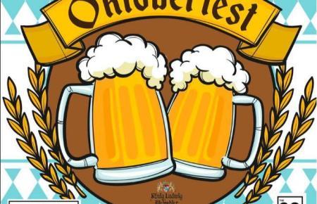 Mit diesem Plakat wird Werbung für das Oktoberfest gemacht.