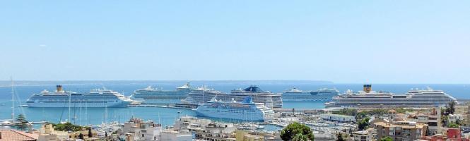 So sieht es mitunter im Hafen von Palma aus.