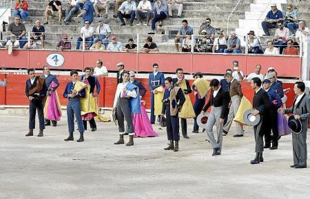 Die Toreros in der Arena.