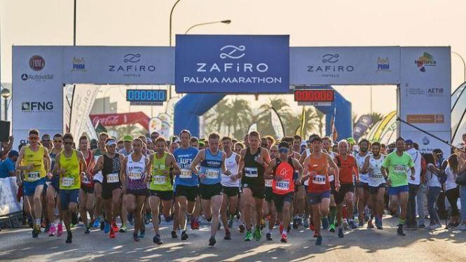 Start beim Zafiro-Palma-Marathon.