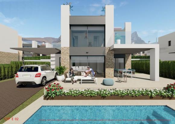 Bei den Neubauvillen dominiert modernes Design.