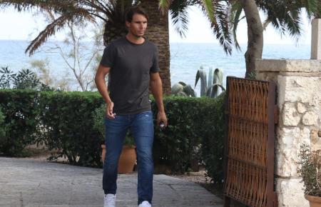 Rafael Nadal am Sonntag beim Verlassen des Restaurants Sa Punta.