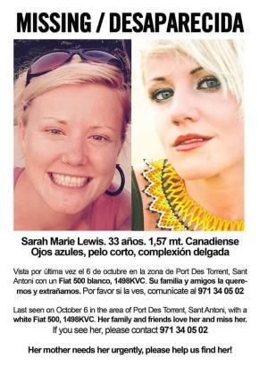 Mit diesem Plakat wird die Frau auf Ibiza gesucht.