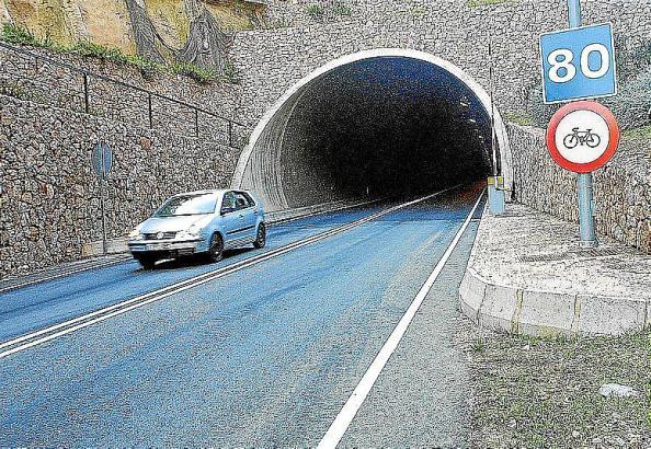 Die Aufnahme zeigt die Öffnung des Tunnels auf der Sóller-Seite.
