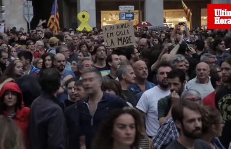 Die Demonstranten in Palma.