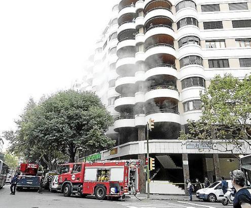 """Im """"Miret""""-Hochhaus in Palma hat es am Montag einen Brand gegeben."""