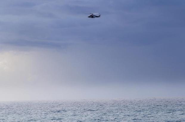 Such-Hubschrauber im Einsatz.