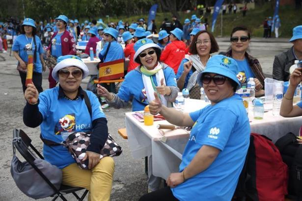 Chinesische Touristen in Spanien.