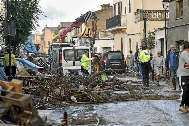 Sant Llorenç nach der Flut-Katastrophe von 2018.