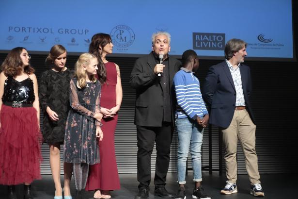 """Das Team des Films """"Pullman"""" freute sich nach der Vorführung über den Applaus des Publikums."""