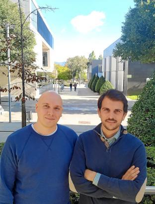 """Die beiden Gründer von """"Hotelbreak"""": Franzose Maxime Renaudin (l.) und Cristian Alcoba."""