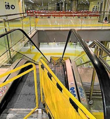 Diese Rolltreppe funktioniert seit Langem nicht mehr.