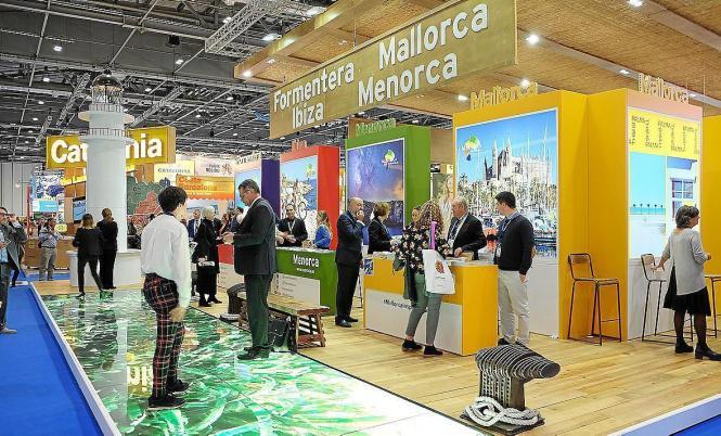 Der Stand der Balearen auf der Tourismus-Messe in London.