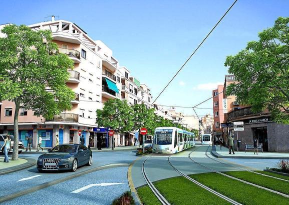 So könnte Palma mit einer Tram-Linie aussehen.