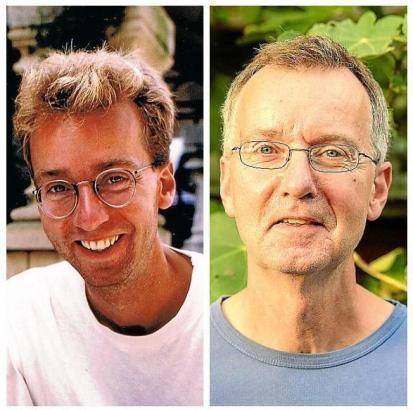 Das ist Dirk aus den Niederlanden. Das linke Bild stammt aus dem Jahr 1993, die rechte Aufnahme zeigt, wie der 58-Jährige heute aussieht.