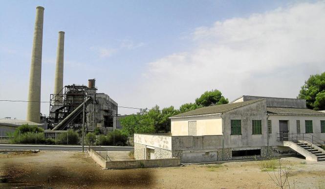 Blick von der Ex-Gesa-Siedlung zum Ex-Elektrizitätswerk