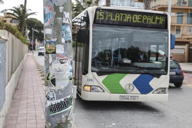 Die Linie 15, die die Innenstadt von Palma mit der Urlaubermeile Playa de Palma verbindet, ist einer der Linien mit den meisten Einzelfahrschein-Nutzern.