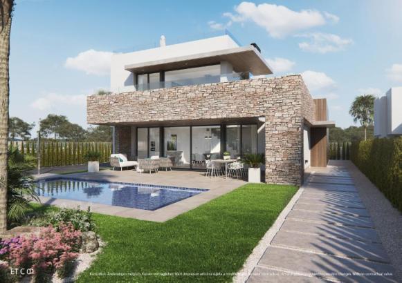 Die neugebaute Luxusvilla in Strandnähe steht zum Verkauf.