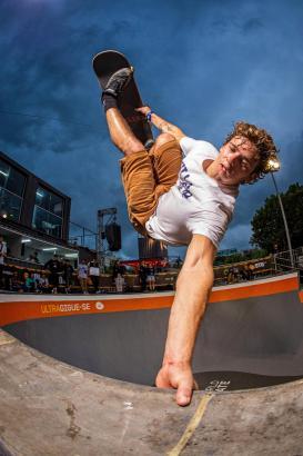 Jaime Mateu bei seinem Auftritt in Rio. Der Mallorquiner gehört zu den Stars der Skateboard-Welt.